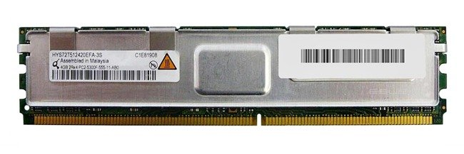 Pamięć RAM 1x 4GB QIMONDA ECC FULLY BUFFERED DDR2 667MHz PC2-5300 FBDIMM | HYS72T512420EFA-3S-C
